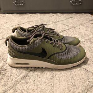 Army green Nike's